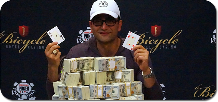 Antonio Esfandiari wins 2016 WSOP Bicycle Casino Main Event